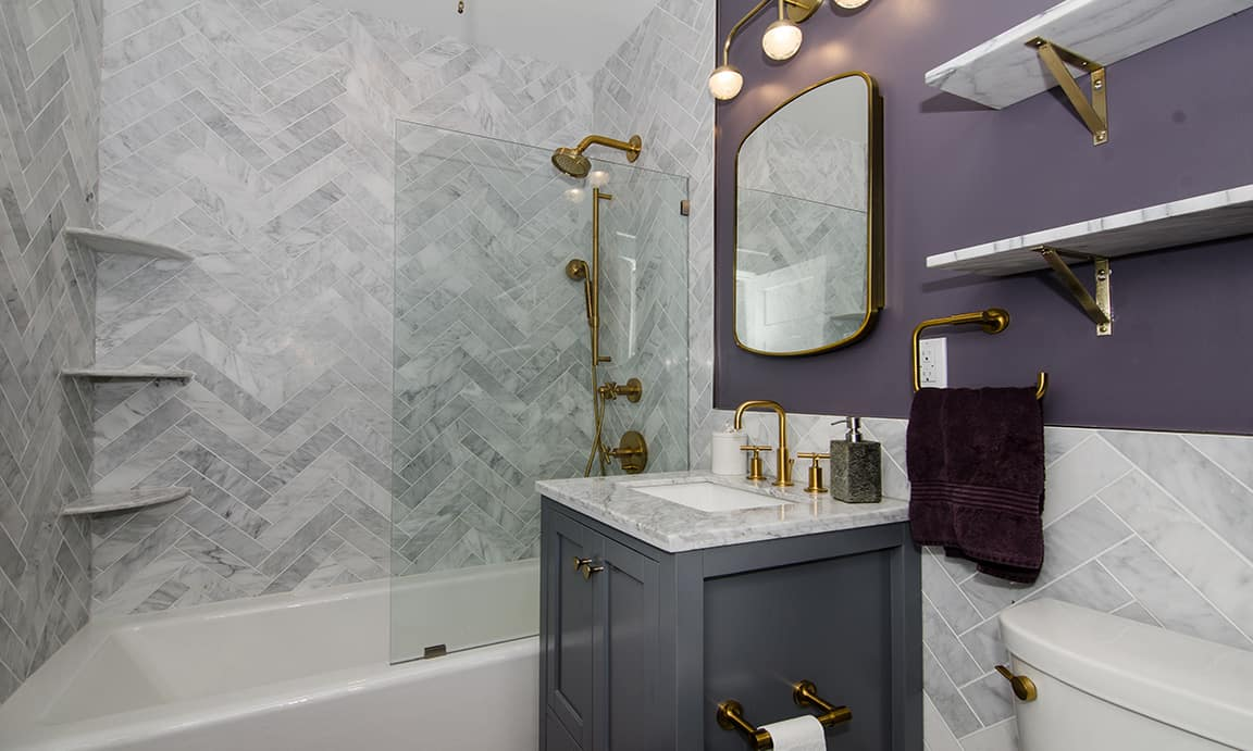 Bright wood, NW Washington DC – Bathroom